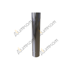 Труба 1000мм. одностінна AISI-304